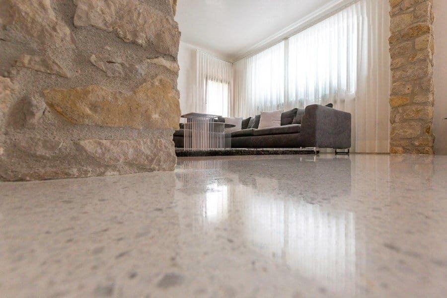 Pavimento veneziana bianca vigo mosaici seminato alla veneziana